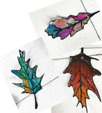 Fall Leaves, Leaf Art, painting- Pre K, K and 1st grade watercolor coloring