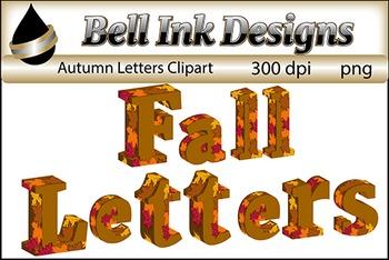 Fall Leaves Letter Clipart