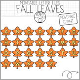 Fall Leaves Letter Tiles (Moveable Clipart) by Bunny On A Cloud