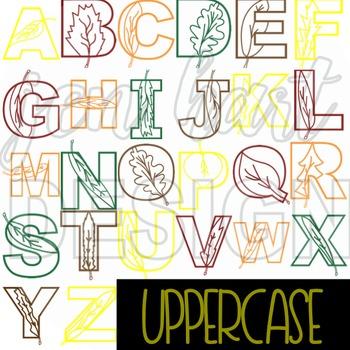 Alphabet Letters Clip Art - Leaves Letters {jen hart Clip Art}