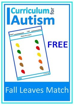 Fall Leaves Autumn Matching FREEBIE, Autism , Special Education, Basic Concepts