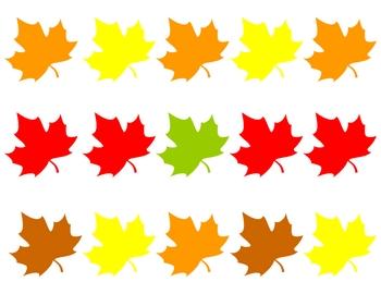 fall leaves matching pattern practice for preschool kindergarten