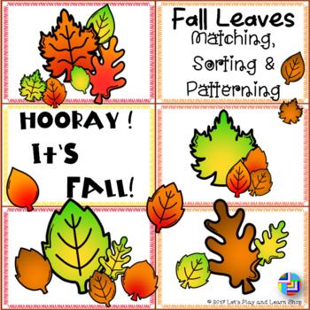 Fall Leaves Matching, Sorting and Patterning