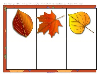 Fall Leaves Sorting, Matching and Patterning