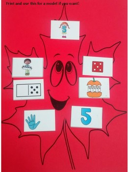 Fall Leaves Math Numbers to 20 Craft: Ten Frames, numerals, tally marks