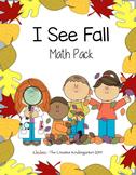 I See Fall Leaves {Math Pack}
