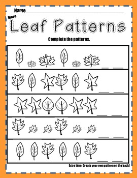 Fall Leaves Math Packet