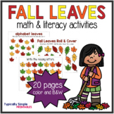 Fall Leaves Math and Literacy Activities