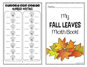 Fall Leaves Mini Math Book! (No Prep)