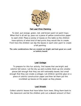 Fall Leaves Mini lessons