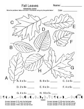 Fall Leaves Multiplication