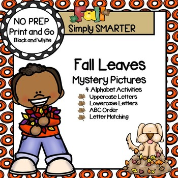 Fall Leaves Mystery Pictures:  NO PREP Alphabet Activities