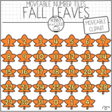 Fall Leaves Number Tiles (Moveable Clipart) by Bunny On A Cloud
