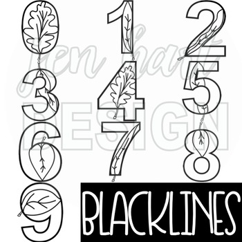 Numbers Clipart Fall Leaves-NumberLEAVES
