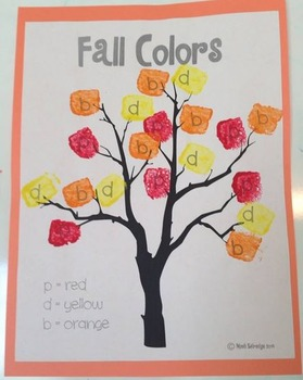 Fall Leaves Painting (differentiate b, d, and p)