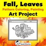 Fall, Leaves, Pattern Coloring, Art Activity, Art Sub Plan