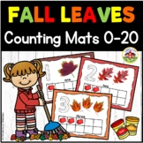 Fall Leaves Play Dough Counting Mats 0-20