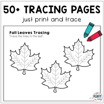 Fall Leaves Pre-Writing Tracing Pack