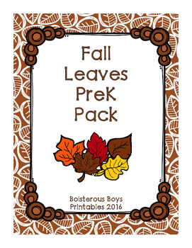 Fall Leaves PreK Pack - NO PREP! Printer Friendly!