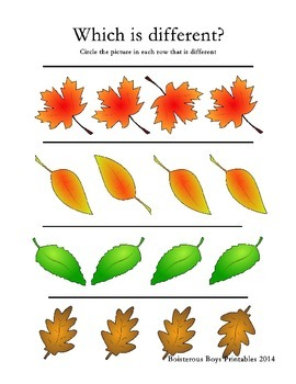 Fall Leaves PreK Printable Learning Pack