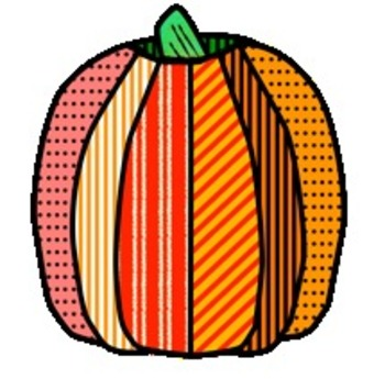 Fall Leaves, Pumpkins, Apples, Tree, and Acorns with Textures Clip Art