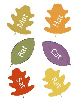 Fall Leaves Rhyming Activity