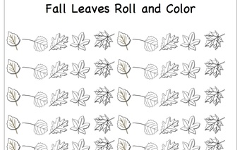Fall Leaves Roll and Color