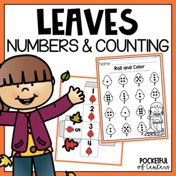 Fall Leaves Roll and Count Numbers 1-12