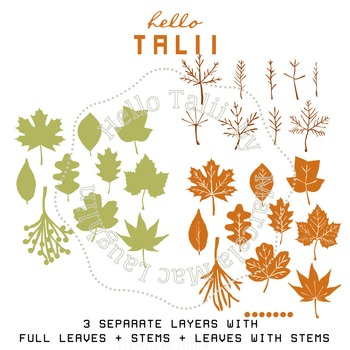Fall Leaves- SVG cutting files