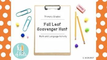 Fall Leaves Scavenger Hunt