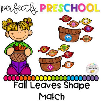 Fall Leaves Shape Match