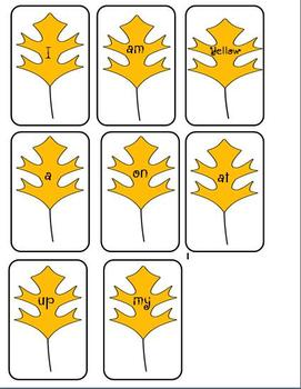 Fall Leaves Sight Word Games