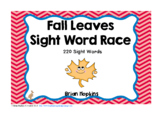 Fall Leaves Sight Word Race