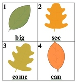 Editable Leaves Sight Word Search