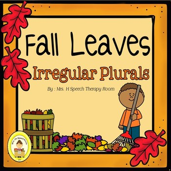 Fall Leaves Speech Therapy Irregular Plurals