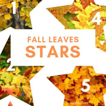 Fall Leaves Stars - VIPKID Reward, Online Teaching, Fall, Autumn, Back to School