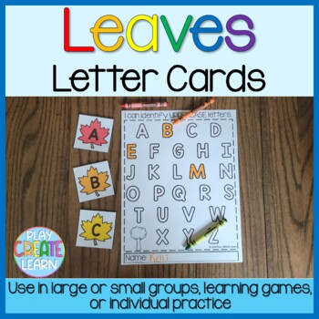 Fall Leaves Study:  Letter Identification Cards (2 sizes)
