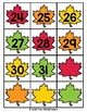 Fall Leaves Study:  Number identification cards (2 sizes)
