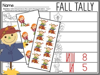Fall Leaves Tally Marks