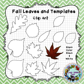 Fall Leaves Template Clip Art