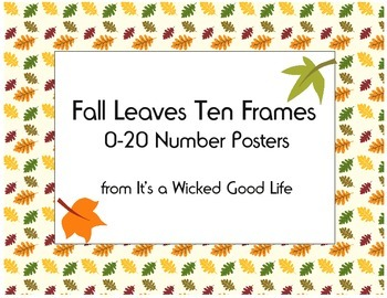 Fall Leaves Ten Frame Number Posters