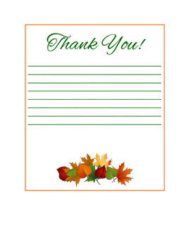 Fall Leaves Thank You Notes