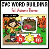 Fall Leaves Themed CVC Word Building Pack