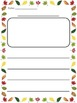 Fall Leaves Border Themed Differentiated Writing Paper