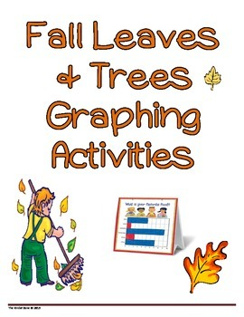 Fall Leaves & Trees Math Graphing Lessons & Center Set
