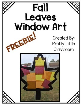 Fall Leaves Window Art