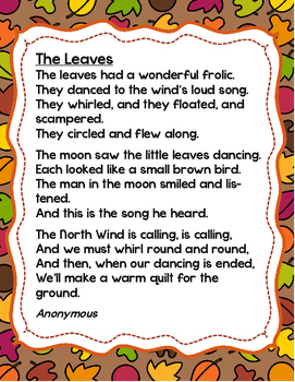 Fall Leaves Writing