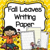 Fall Leaves Writing Paper