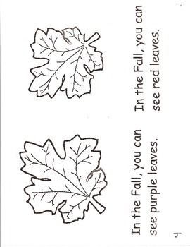 Fall Leaves- a non-fiction guided reading book
