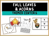 Fall Leaves and Acorns Preschool Themed Centers